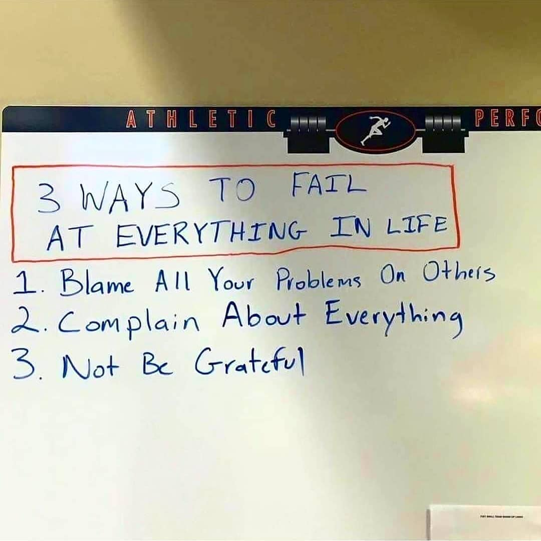 [Image] 3 Ways to Fail at Everything in Life.