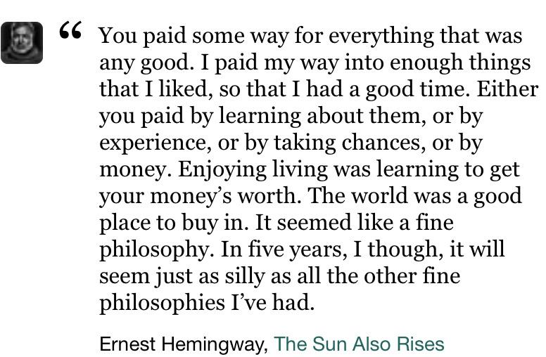 Ernest Hemingway, The Sun Also Rises [1080×1080]