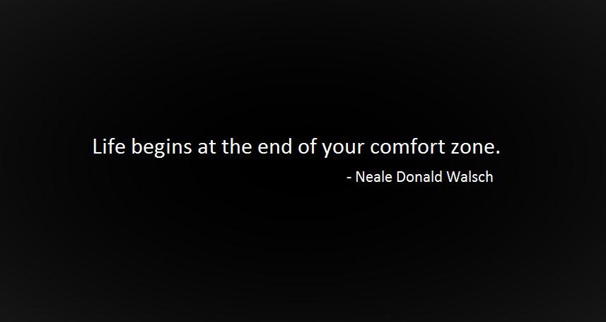 [Image] Life begins at the end of your comfort…