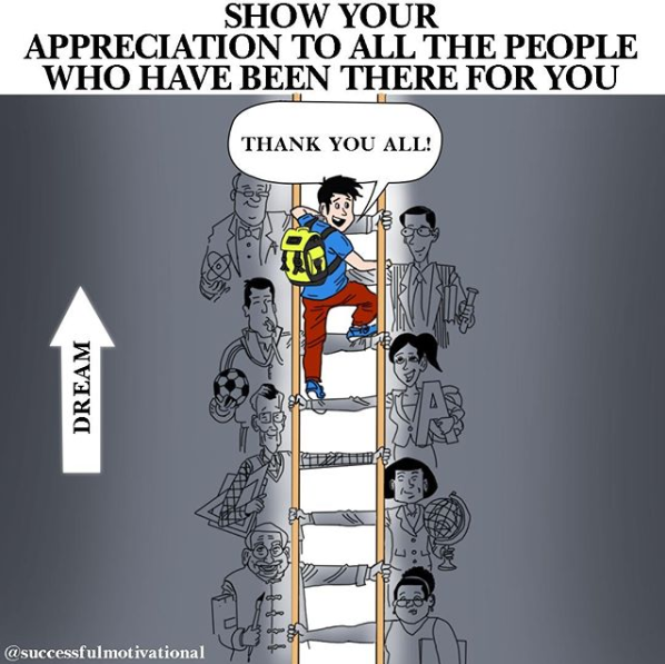 [Image] Never forget those who have helped you on your path to success