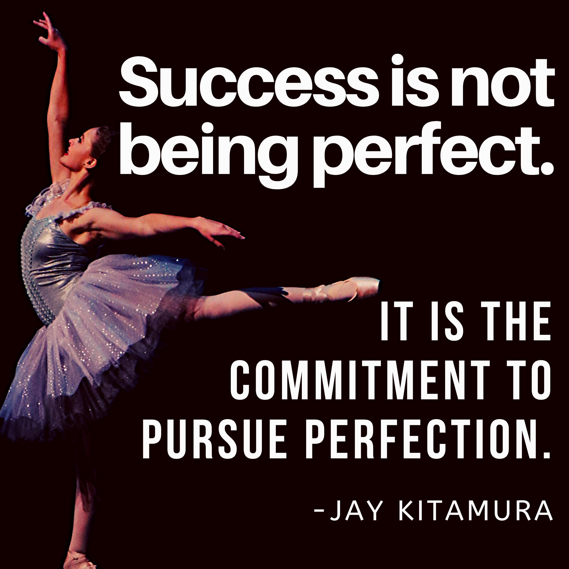 [Image] You don't have to be perfect.