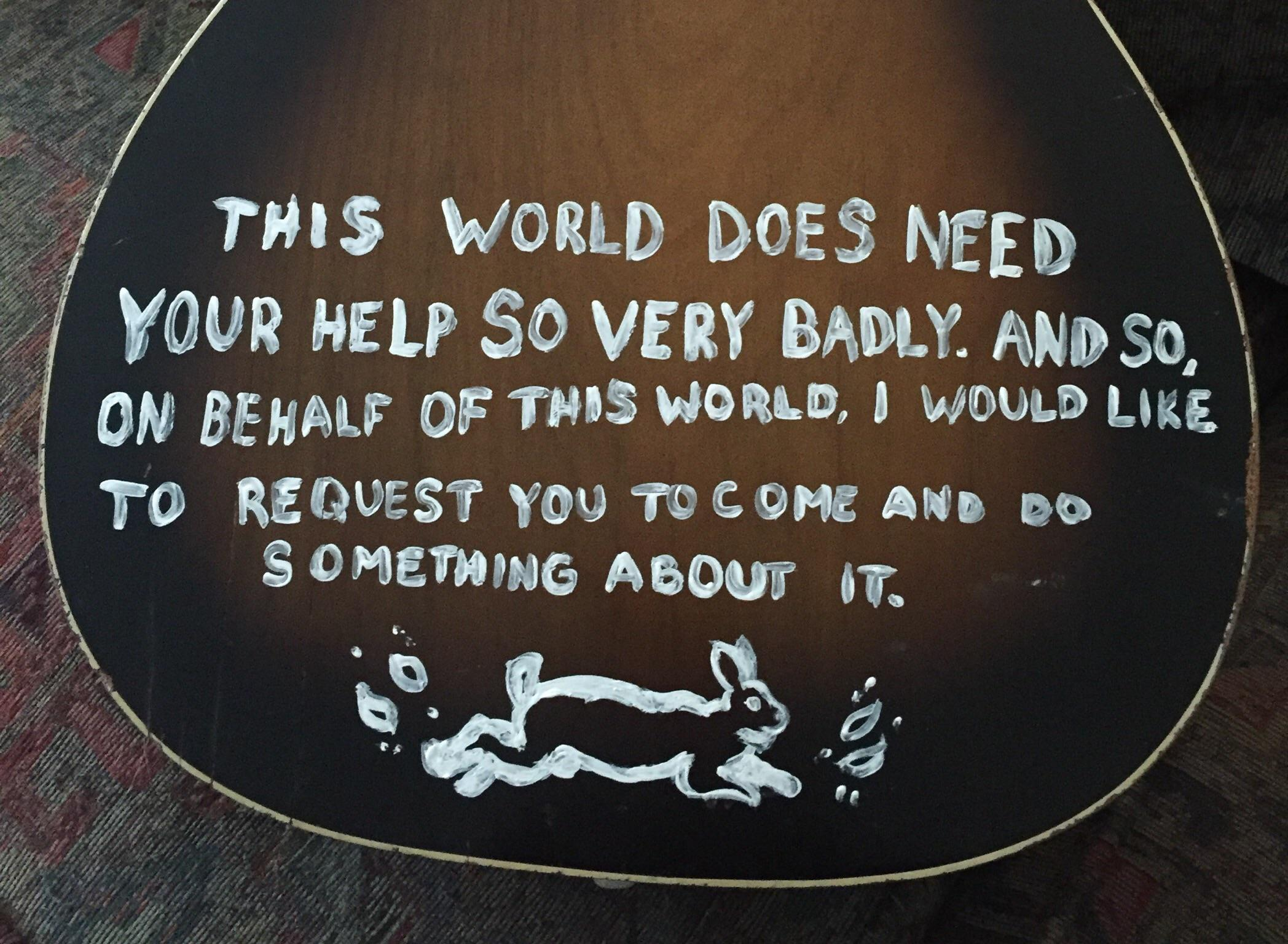 [Image] This world does need your help so very badly….
