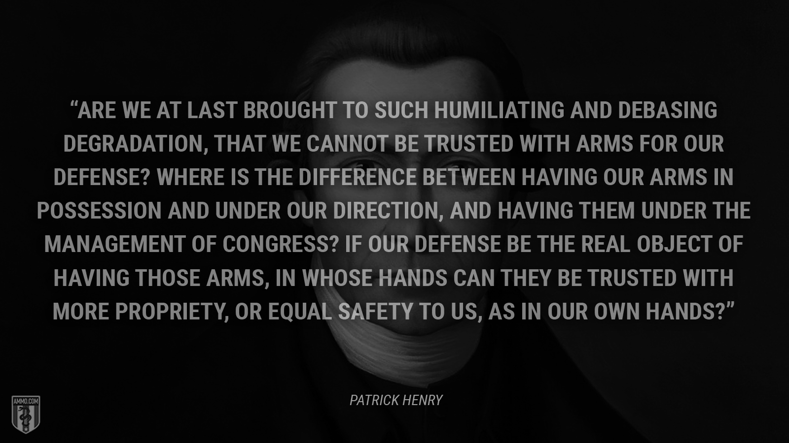 Patrick Henry, 184 years ago
