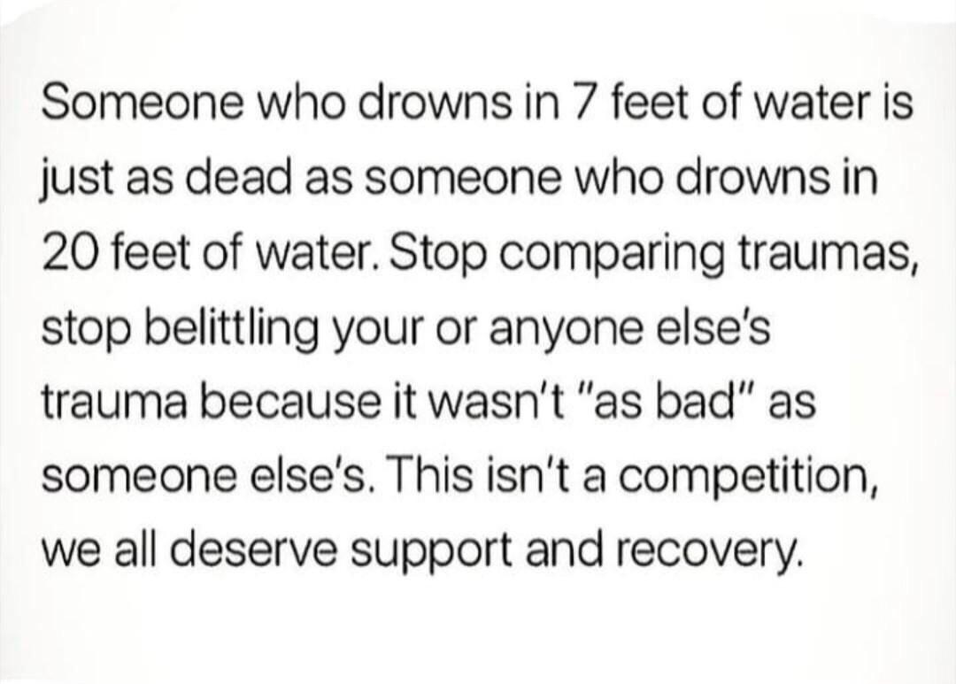 [Image] No matter your pain, you deserve to recover just as much