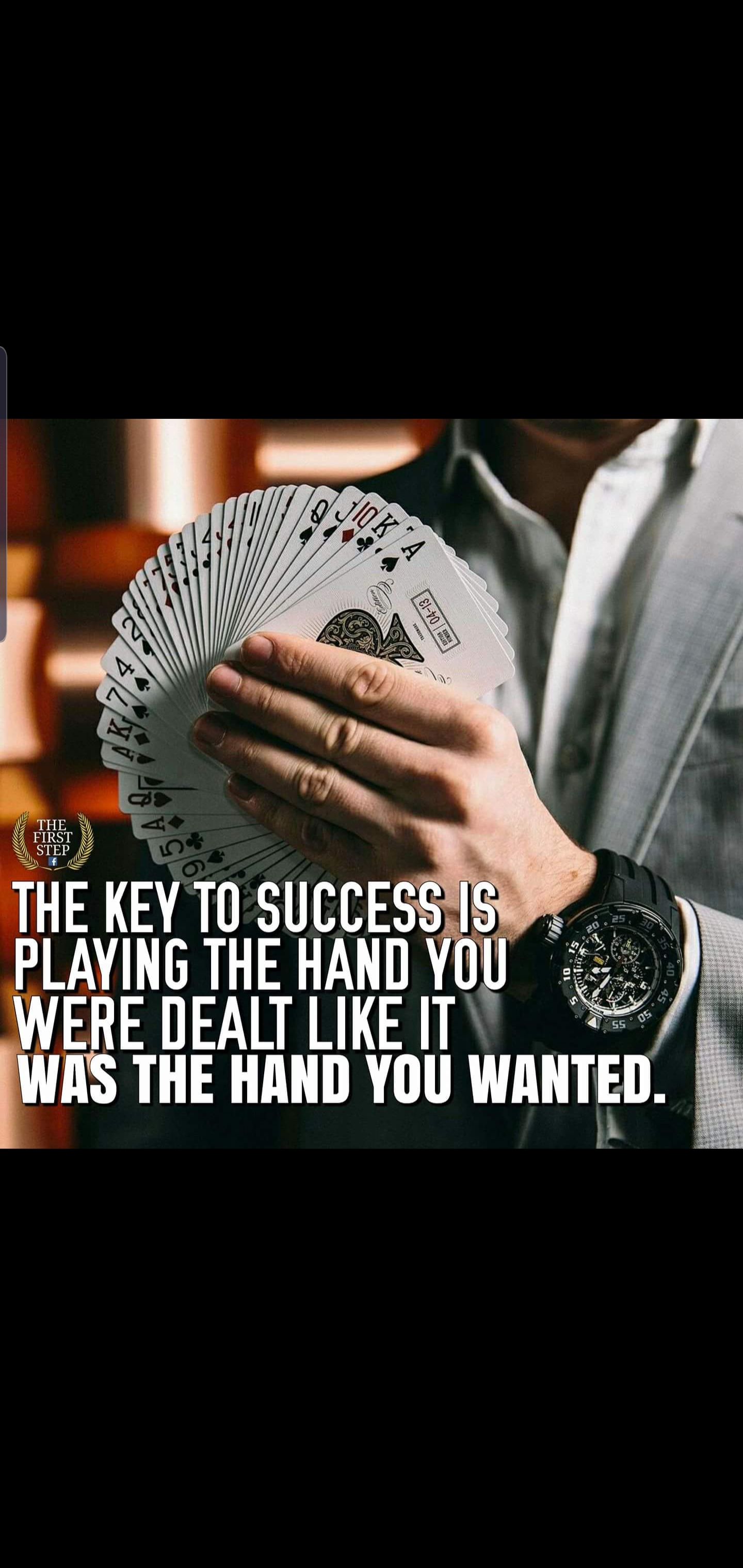 [Image] Play the hand you were dealt with.