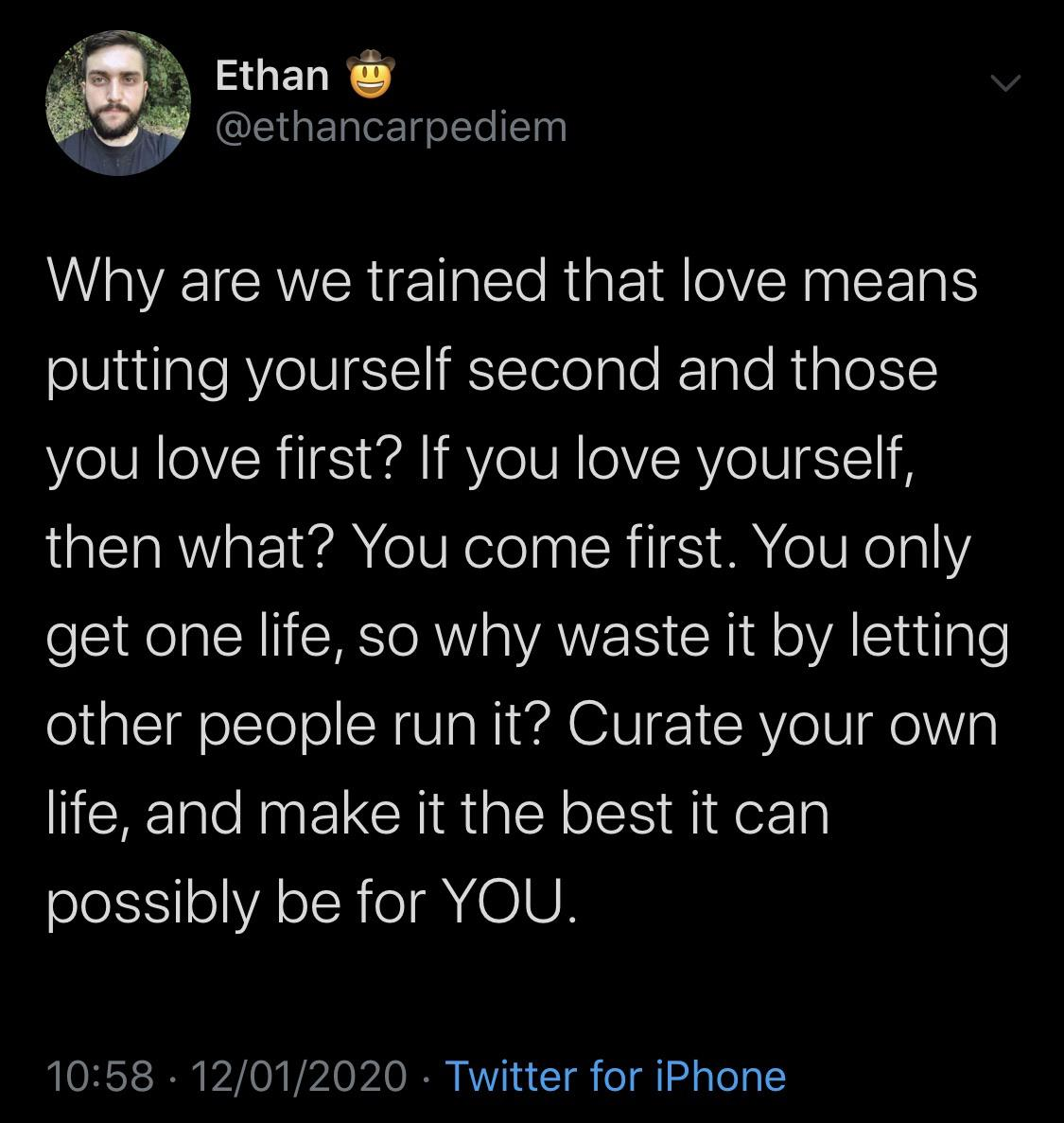 [Image] Curate your own life