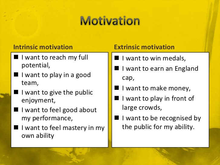 [Image] Extrinsic Motivation and Intrinsic Motivation