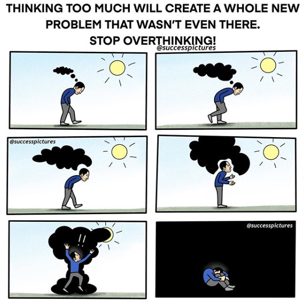 [Image] Overthinking is the root of all your problems