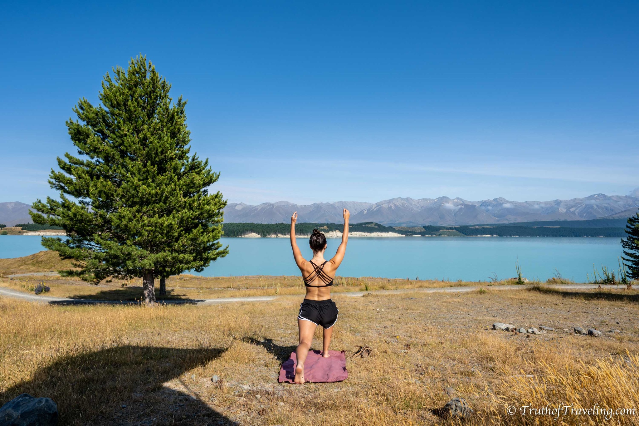 [image] Some places make it easier to get up and moving than others. Morning yoga at Lake Pukaki, New Zealand!