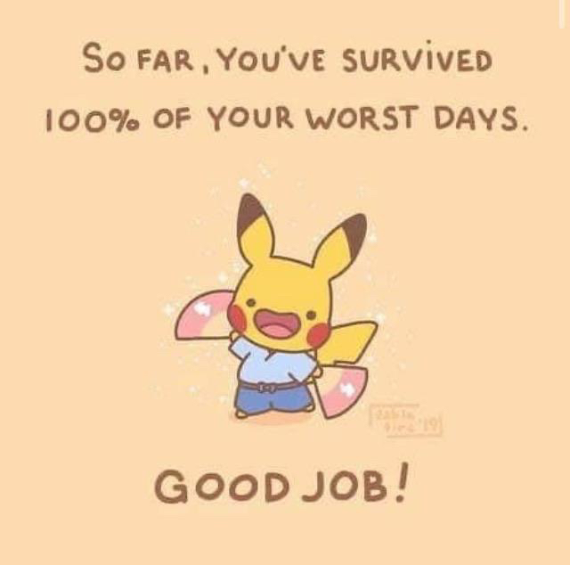 [image] you're still hanging in there !!good job