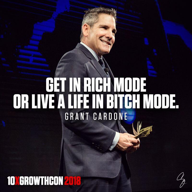 [Image] Uncle G says it best! Rich mode or Bitch Mode, it's your choice!