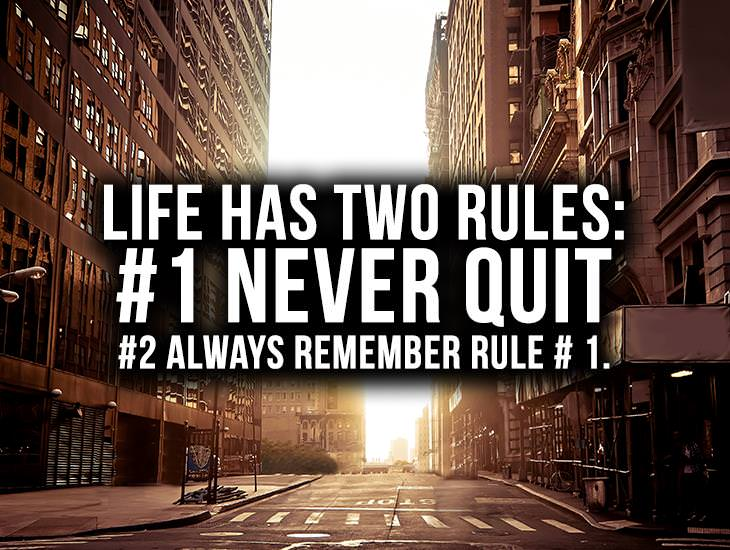 [Image] For anyone trying to succeed at anything… These 2 rules are paramount! Indeed there are several other factors required, but if you put these words on the wall or other important places so that you can see them on a daily basis, multiple times, this attitude will become part of you.