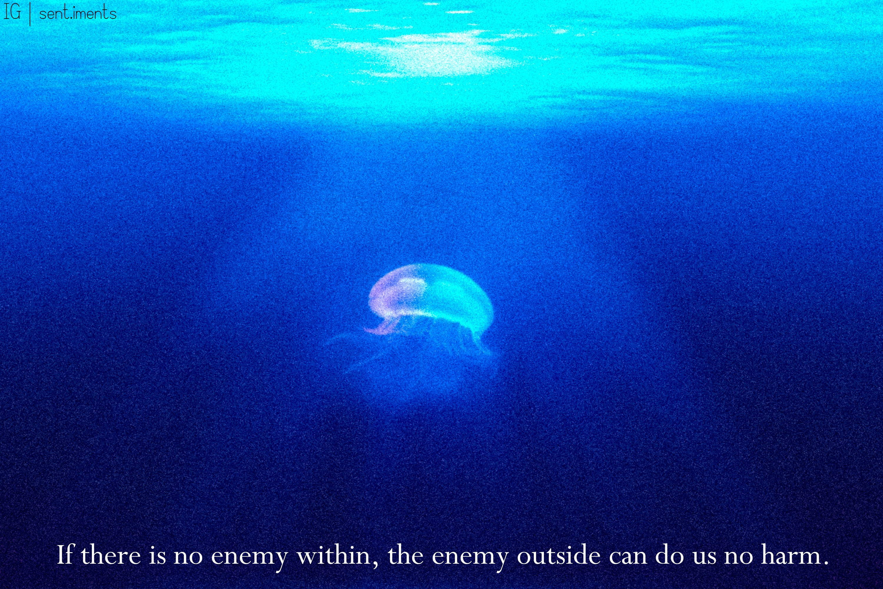 """If there is no enemy within, the enemy outside can do us no harm."" – an African proverb [3000 X 2000]"