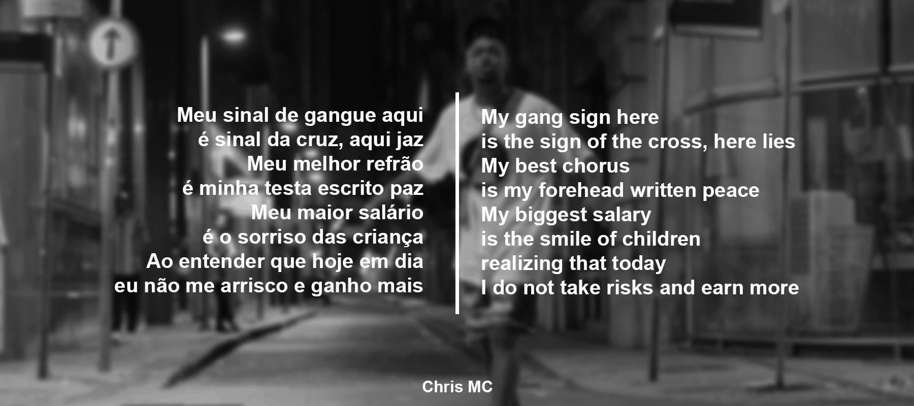 """My gang sign here is the sign of the cross"" ─ Chris MC [1800×800]"