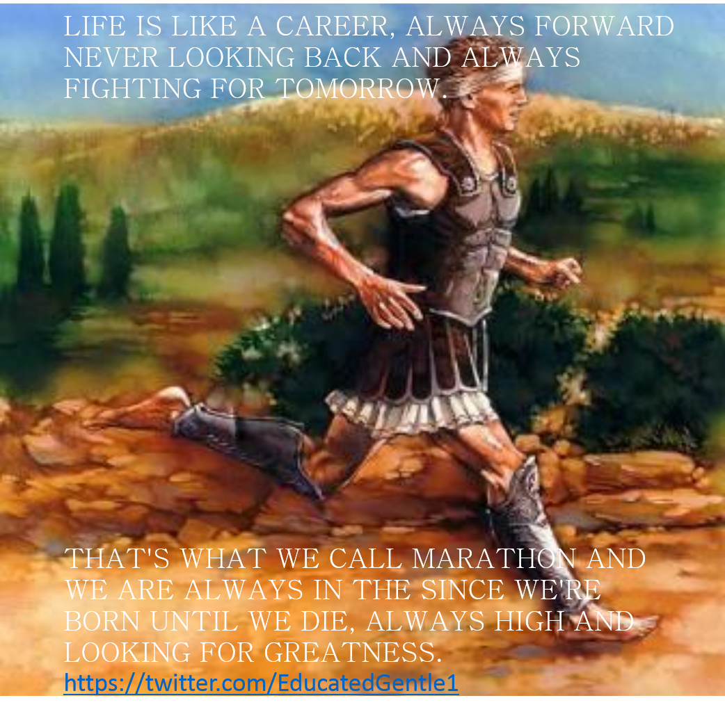 [Image] The marathon of life.