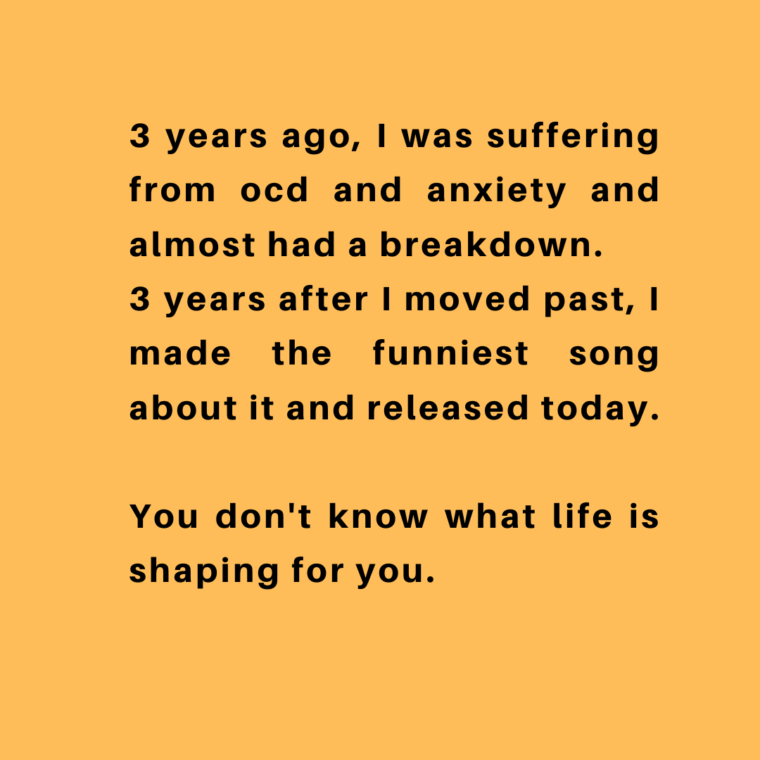 [Image] You don't know what life is shaping for you