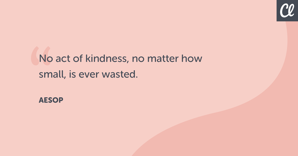 """No act of kindness, no matter how small, is ever wasted"" – Aesop [1200×630]"