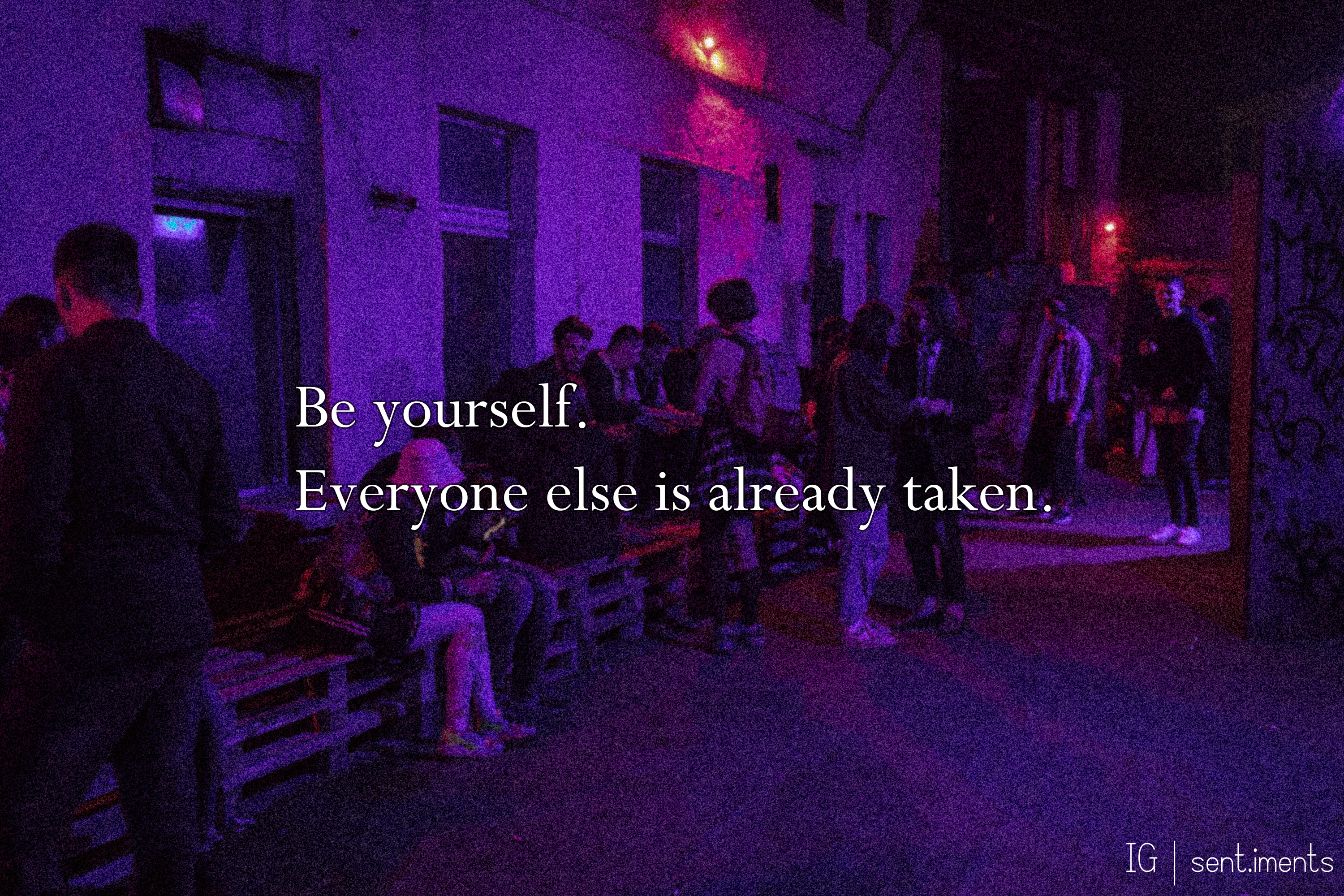 """Be yourself. Everyone else is already taken."" by Oscar Wilde [3000 X 2000]"