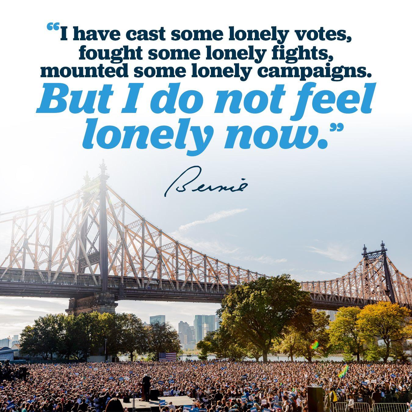 """I have cast some lonely votes…"" – Bernie Sanders [1350×1350]"