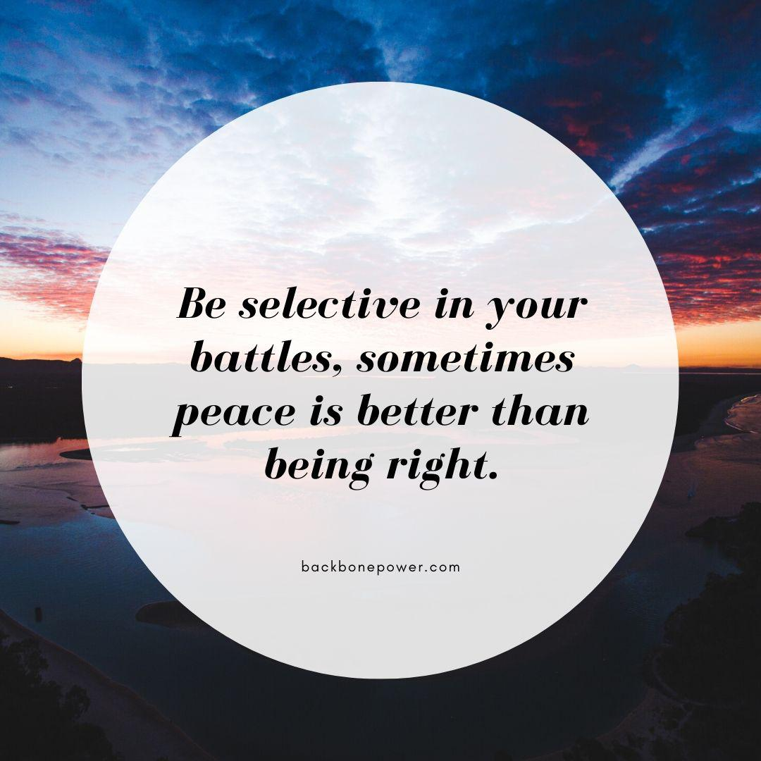 Be selective in your battles. | Backbone Power [1080 x 1080 ]