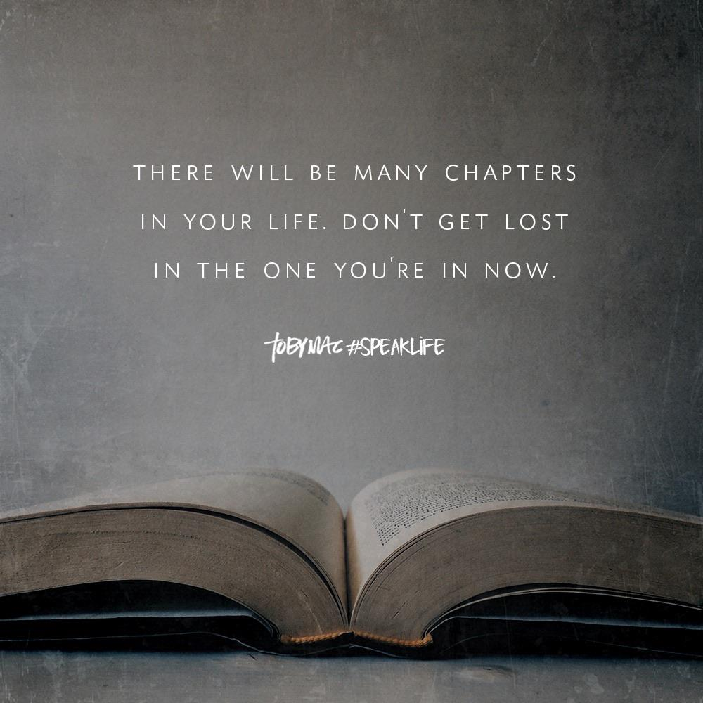 [image] There will be many chapters in your life…