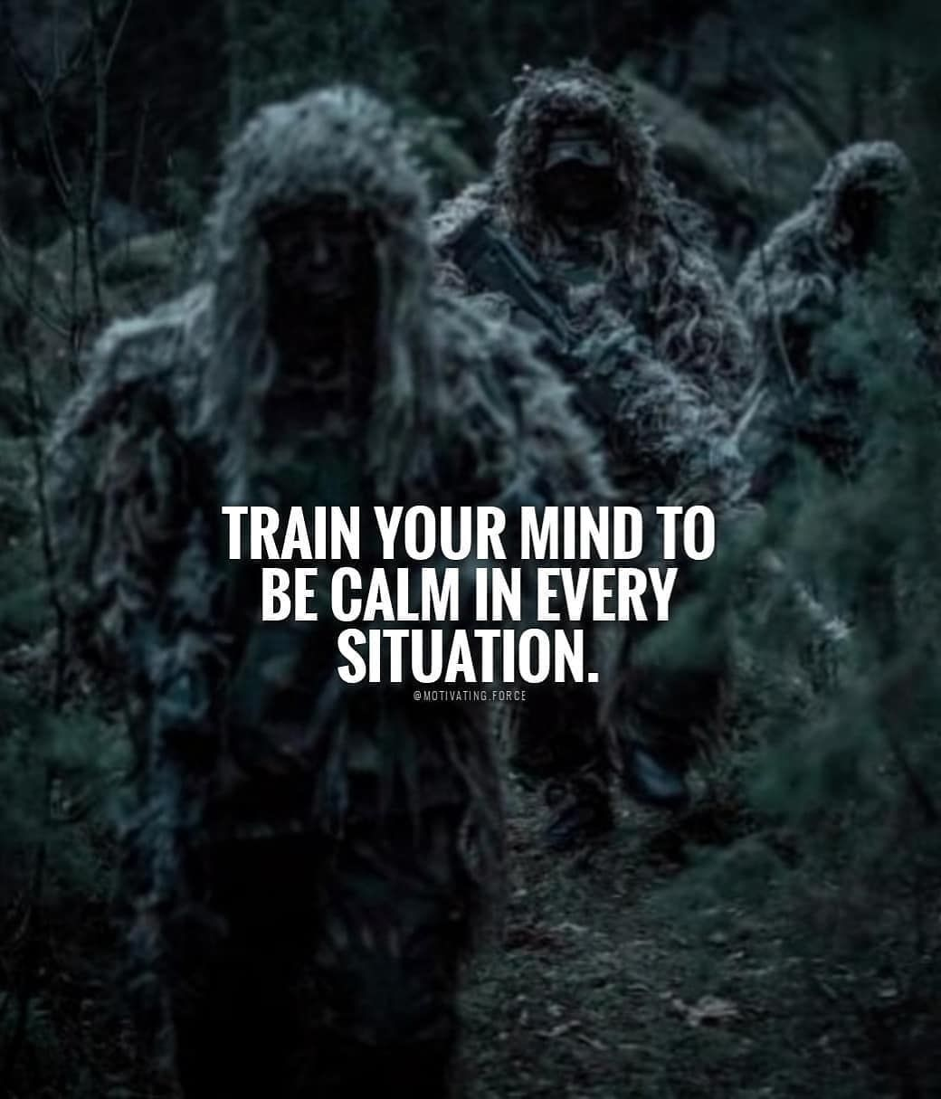 [Image] Train your mind to be calm in every situation.