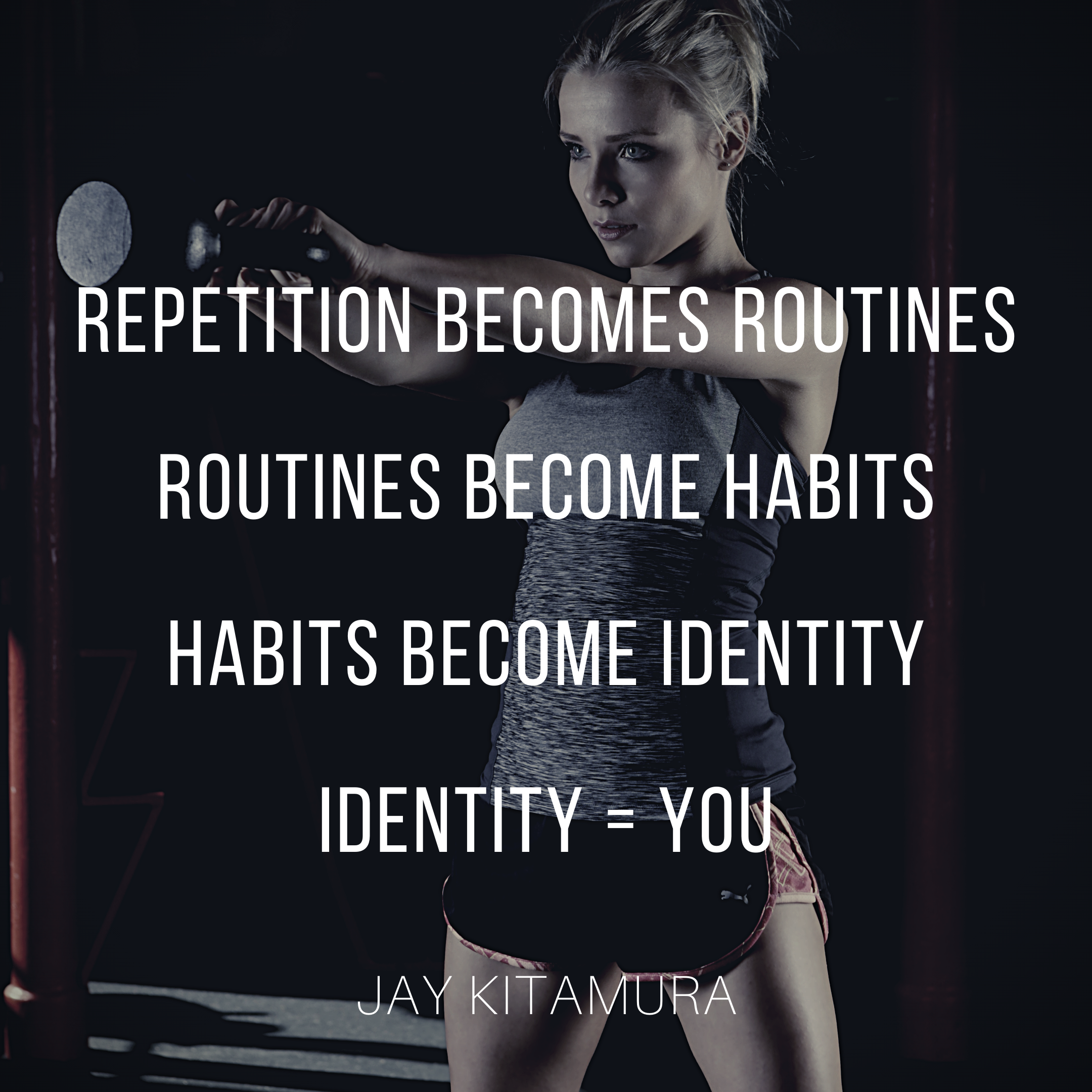 [Image] Repetition is the key to lasting change