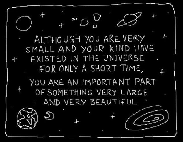 [Image] You Are an Important Part of Something Very Large and Very Beautiful