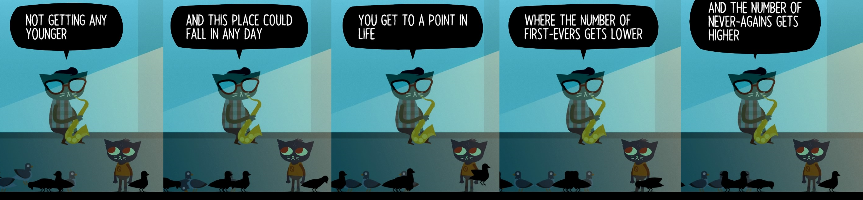 [Image] Don't let it be a 'Never-again' (Game: Night in the Woods)