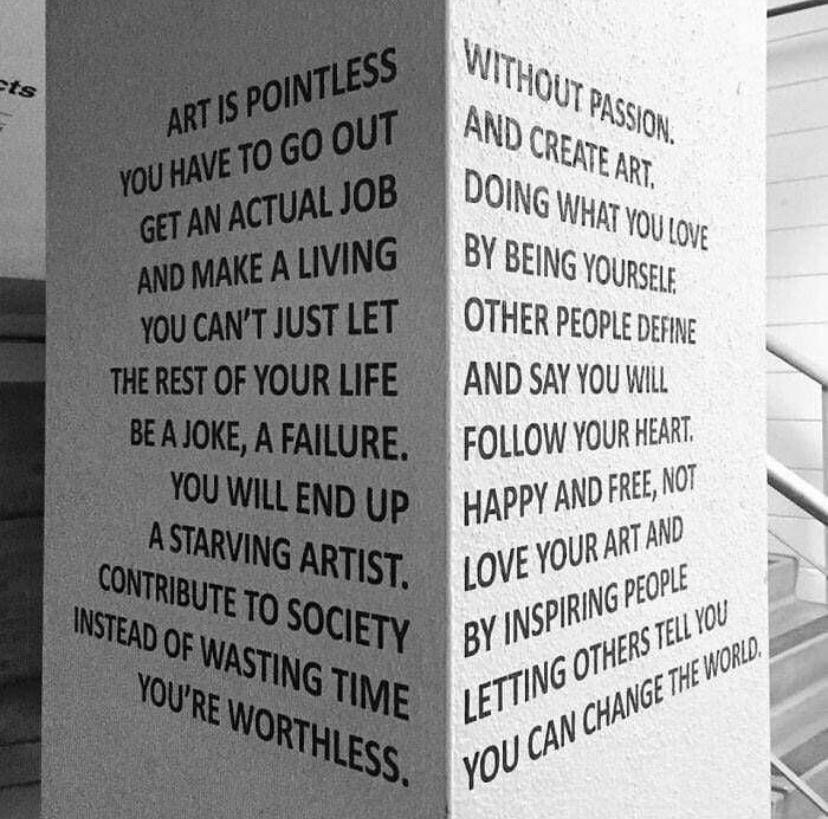 [image] Not only art.