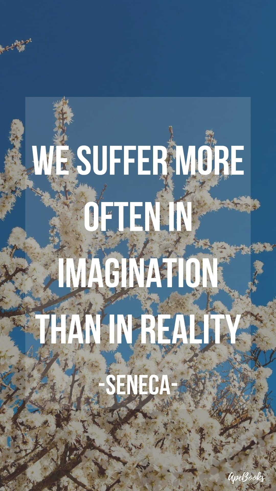 """We suffer more often in imagination than in reality"" -Seneca- [1080×1920]"