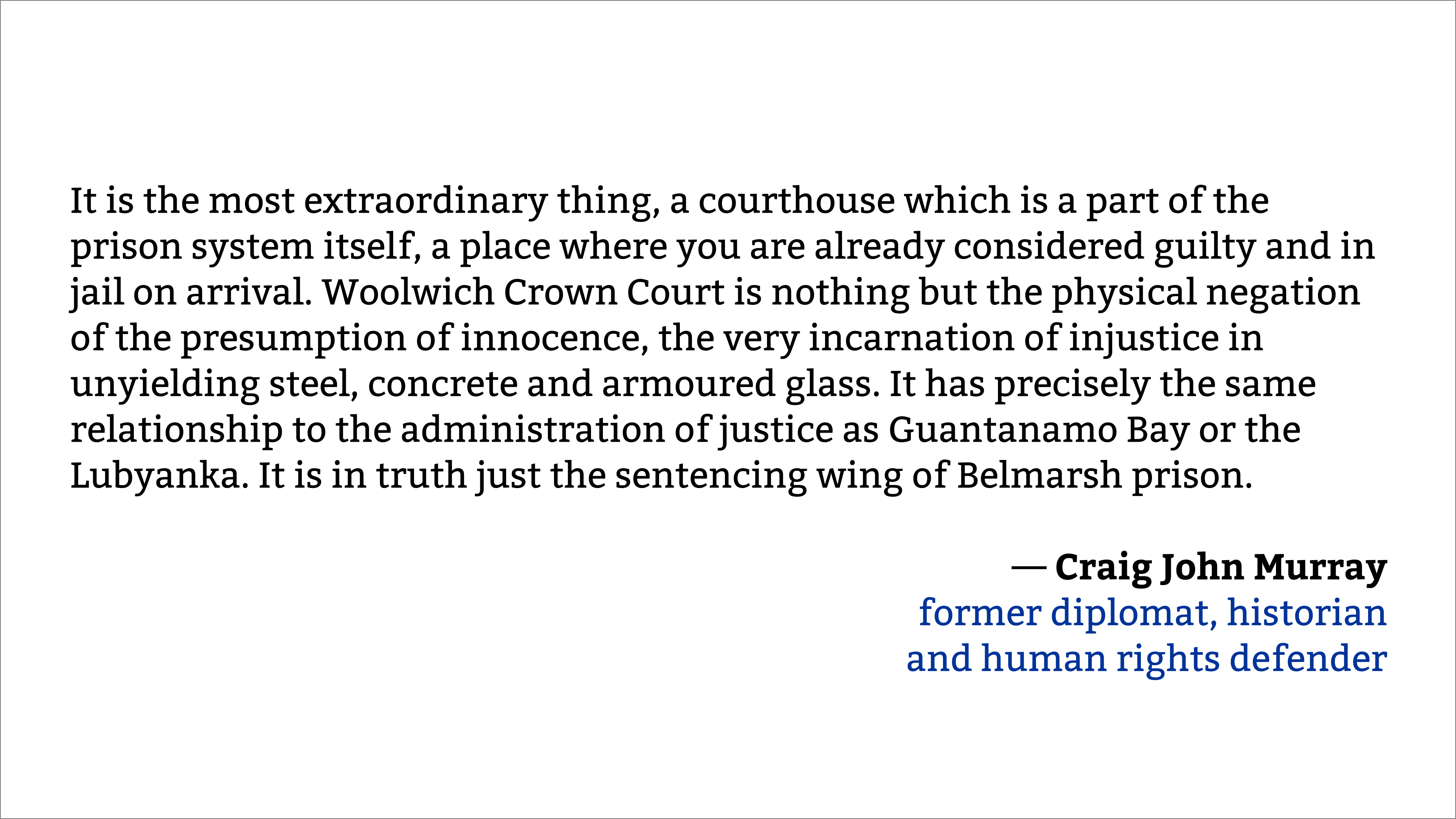 Craig Murray, former diplomat, about Assange's extradition hearing [3840×2160]