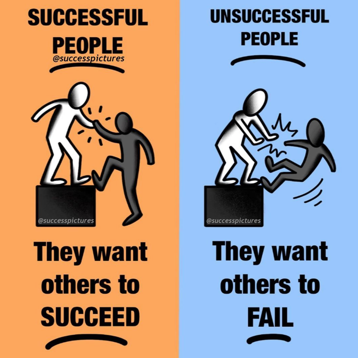 [Image] Successful people also help others to achieve success