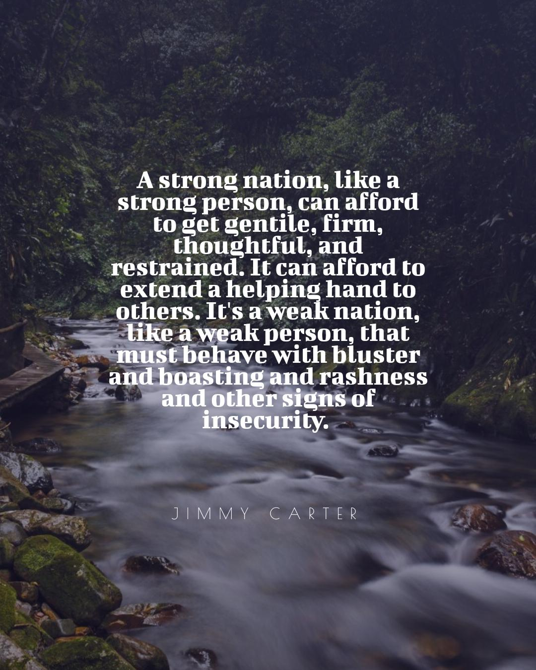 """A strong nation, like a strong person . . ."" -Jimmy Carter [1080×1350]"