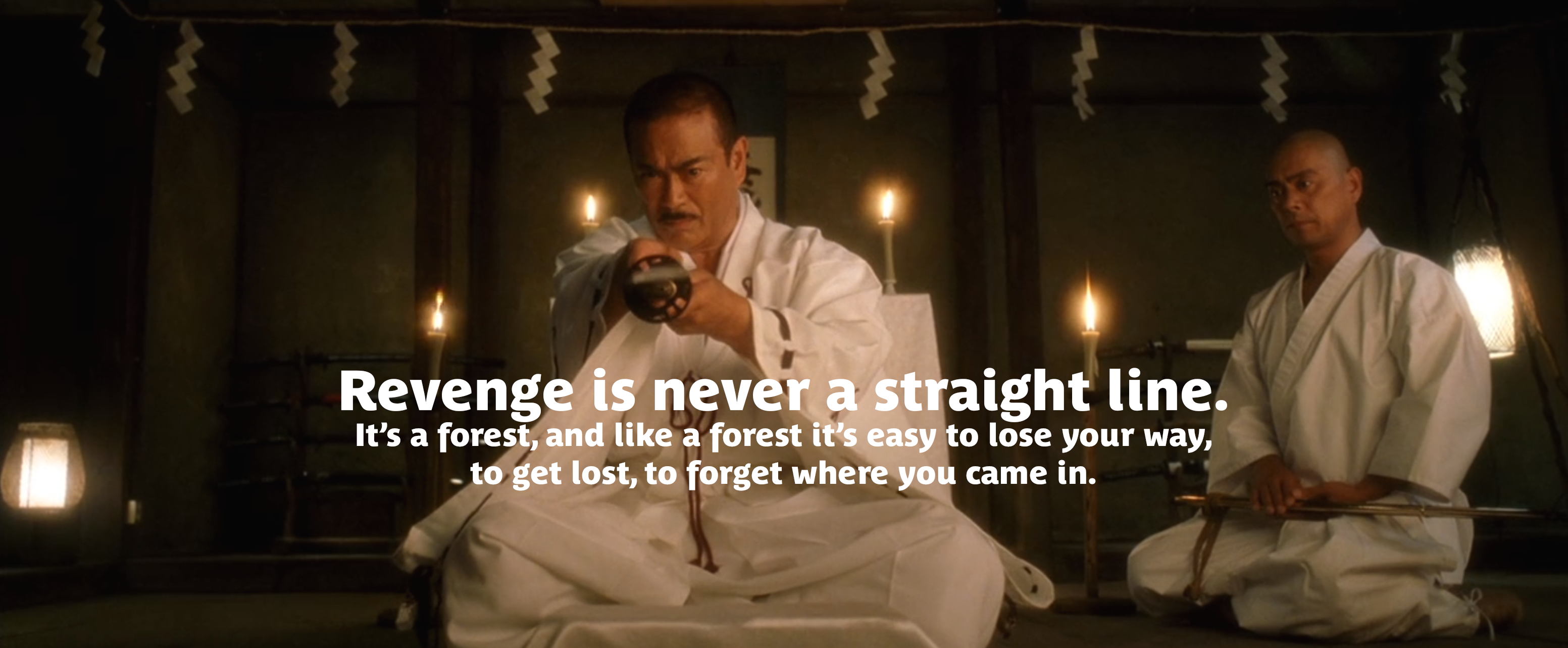 """Revenge is never a straight line"" – Hattori Hanzō [3105×1283]"