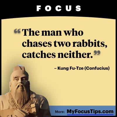 [Image] How to focus on the stuff that matters