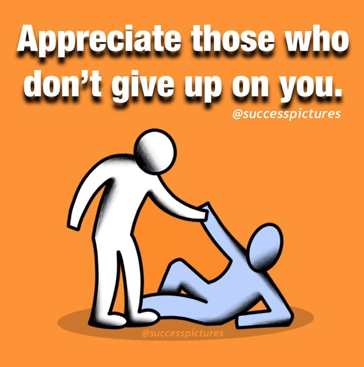 [Image] Never refuse the outstretched hand of someone who wants to help you in life