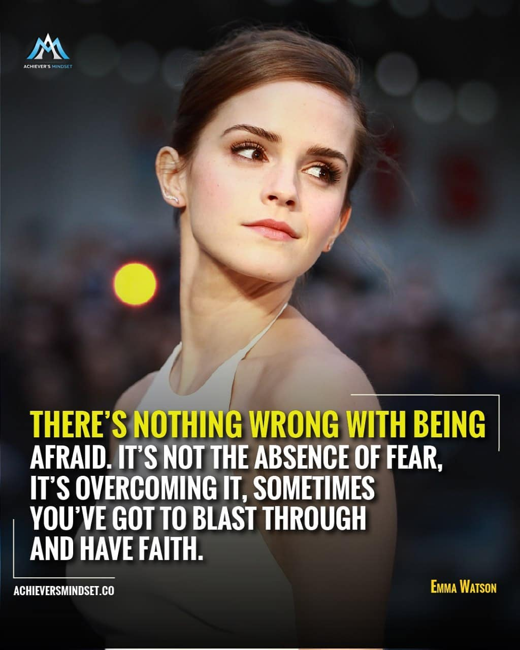 """There's nothing wrong with being afraid….."" – Emma Watson – [1080×1350]"