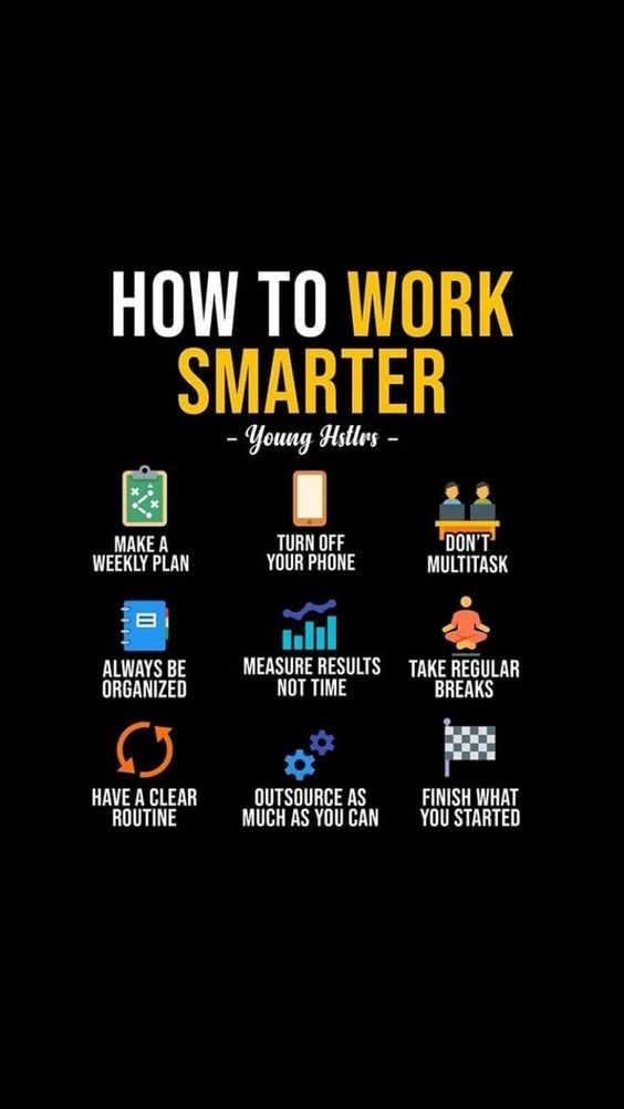 [Image] How To Work Smarter…
