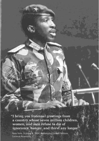 """I bring you fraternal greetings"", Thomas Sankara [339 x 482]"
