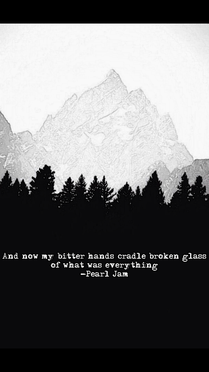 And now my bitter hands cradle broken glass of what was everything – eddie vedder [720×1280]