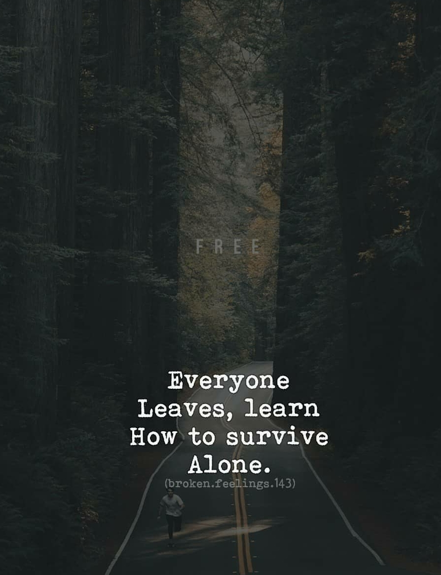 Learning how to survive alone is vital [image]