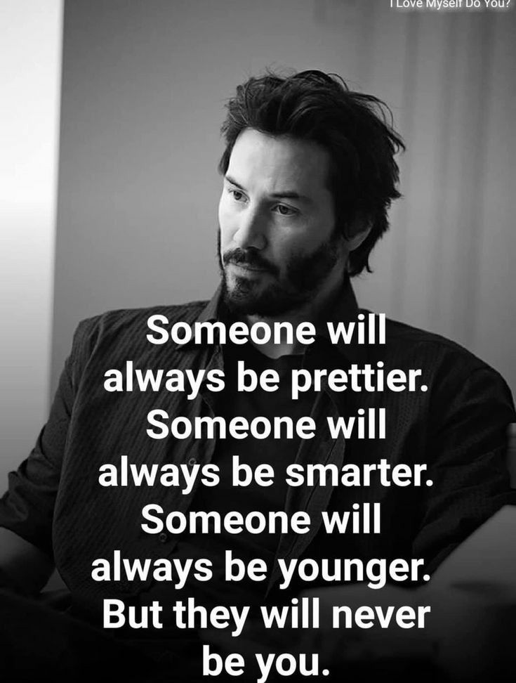 Someone wi always be prettier. Someone will always be smarter. Someone will -* always be younger. But they will never be you. https://inspirational.ly