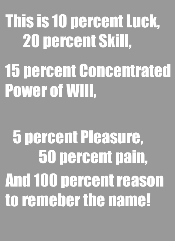 100% reason to remember the name! [Image]