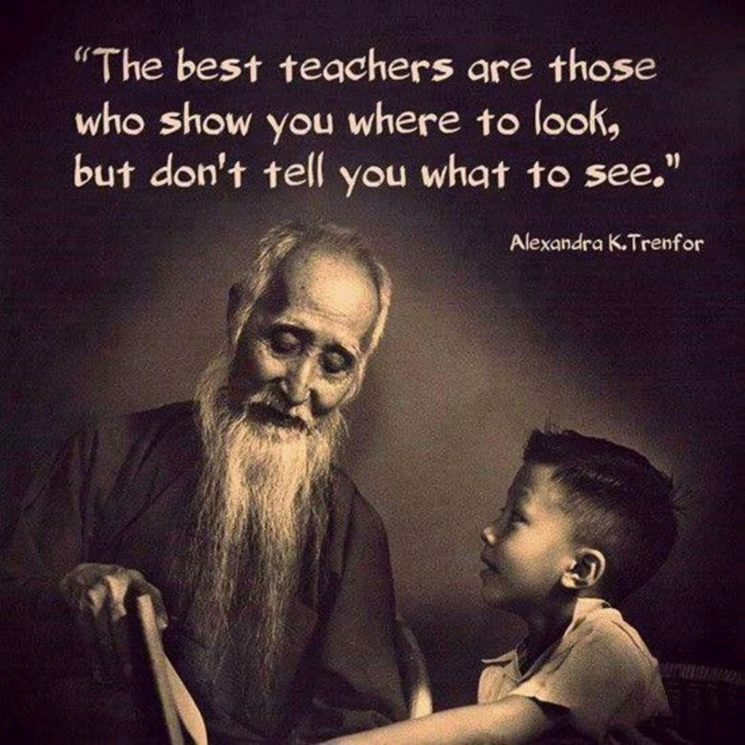 """ The best teacher are those who show you where to look, but don't tell you what to see."" Alexandra K.Trenfor [1072 X 1072]"