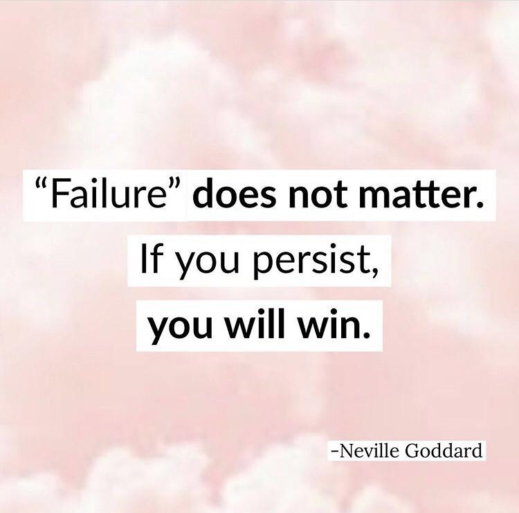 [image] be persistent and consistent