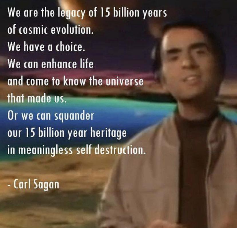 [Image] We are the legacy of 15 Billion years of Cosmic Evolution