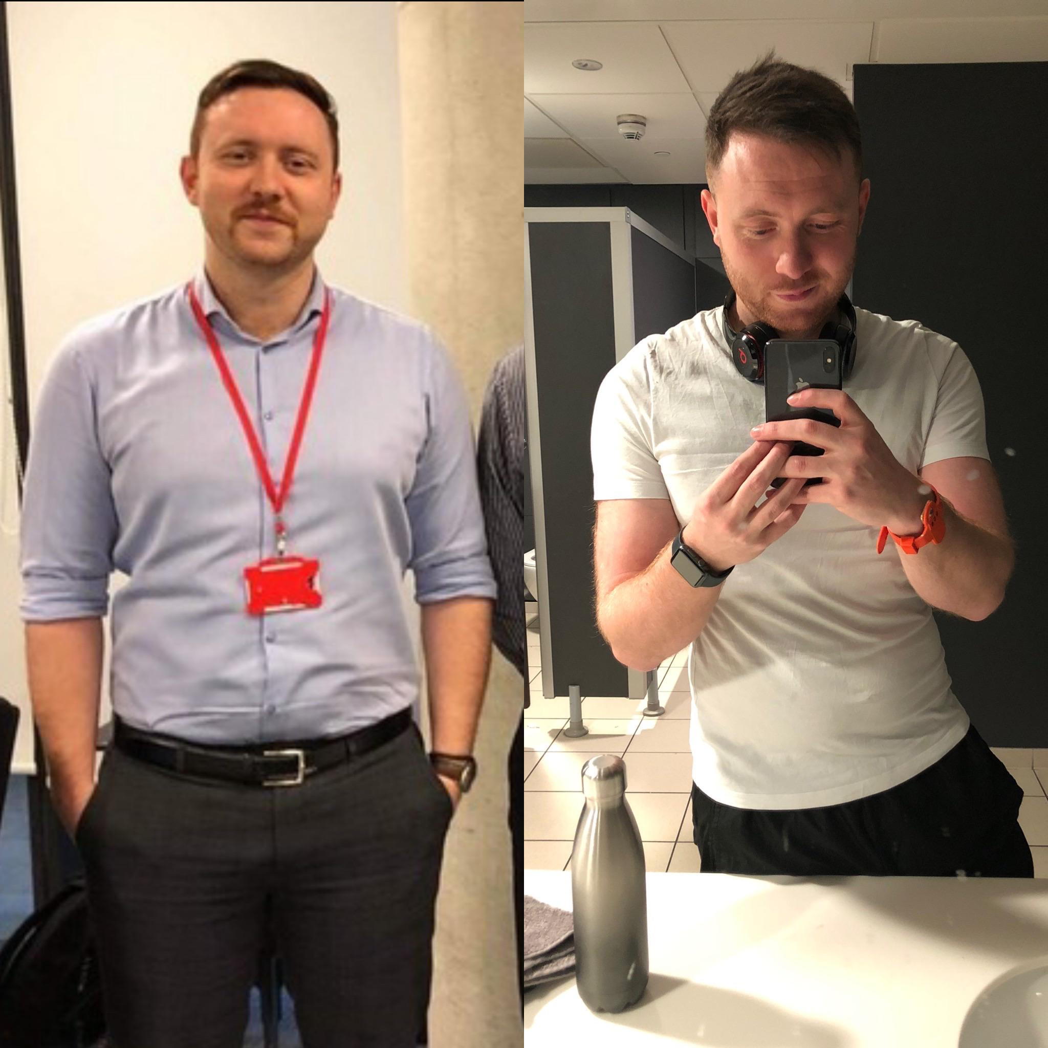 [Image] | On 1st December I weighed 15st 4, the heaviest I've ever been. About 2 months later, through hitting the gym and cleaner eating, I'm down to 13st 8.