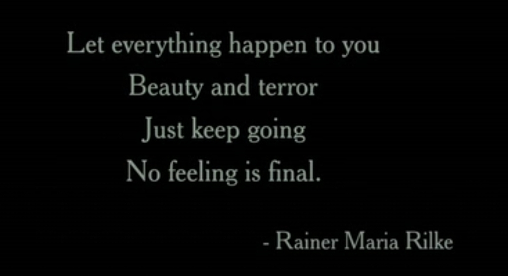 [Image] No feeling is final.