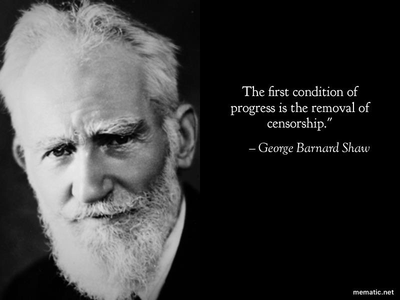 """The first condition of progress"" George Barnard Shaw [800X1200]"